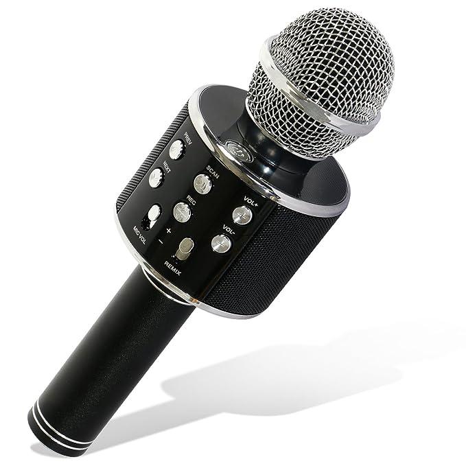 25 opinioni per TONOR WS-858 Wireless Microfono Bluetooth Karaoke Recoding Microphone, 3 in 1