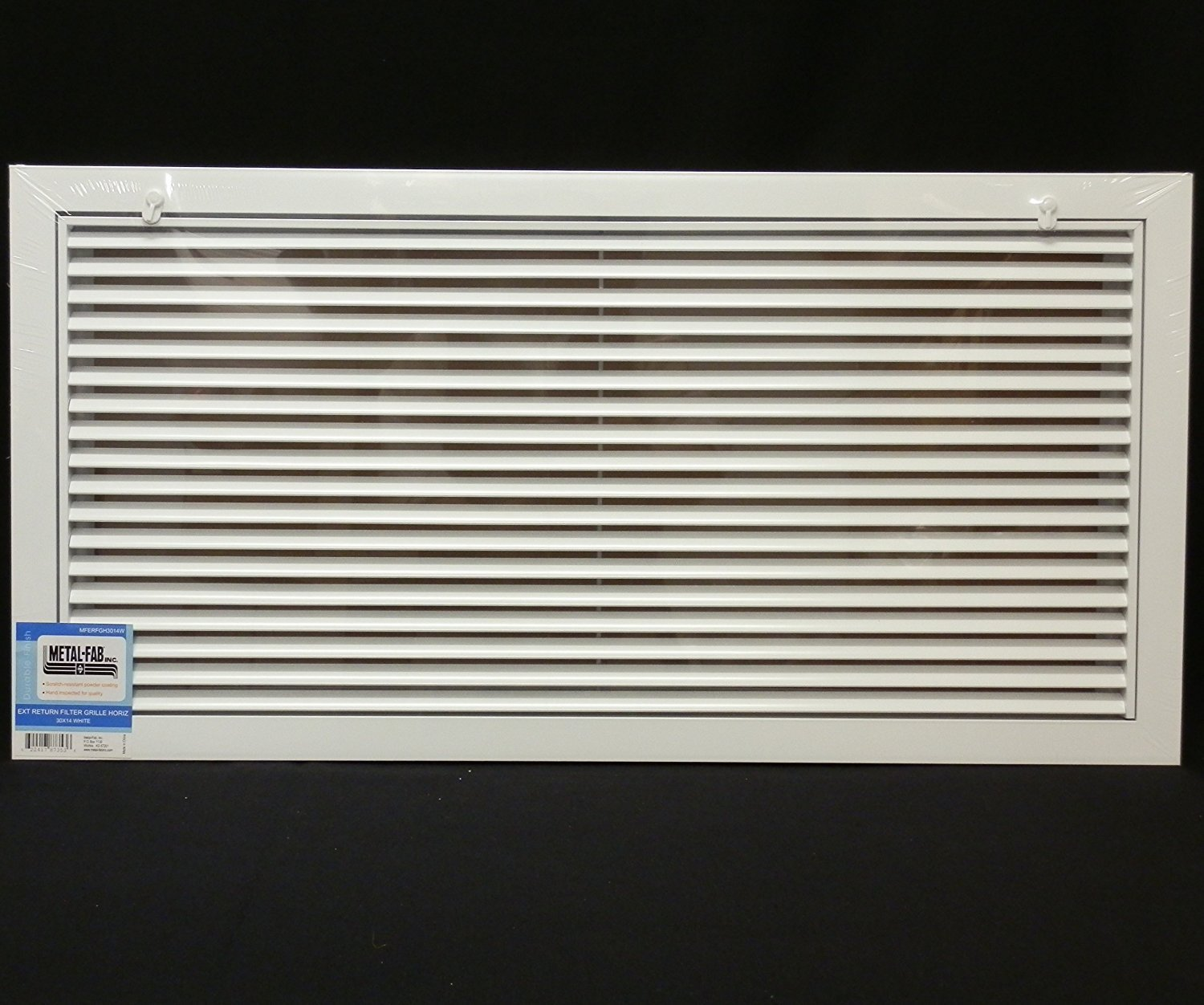 30'' x 20'' Aluminum Return Filter Grille - Easy Air FLow - Linear Bar Grilles [Outer Dimensions: 32.5''w X 22.5''h] by HVAC Premium