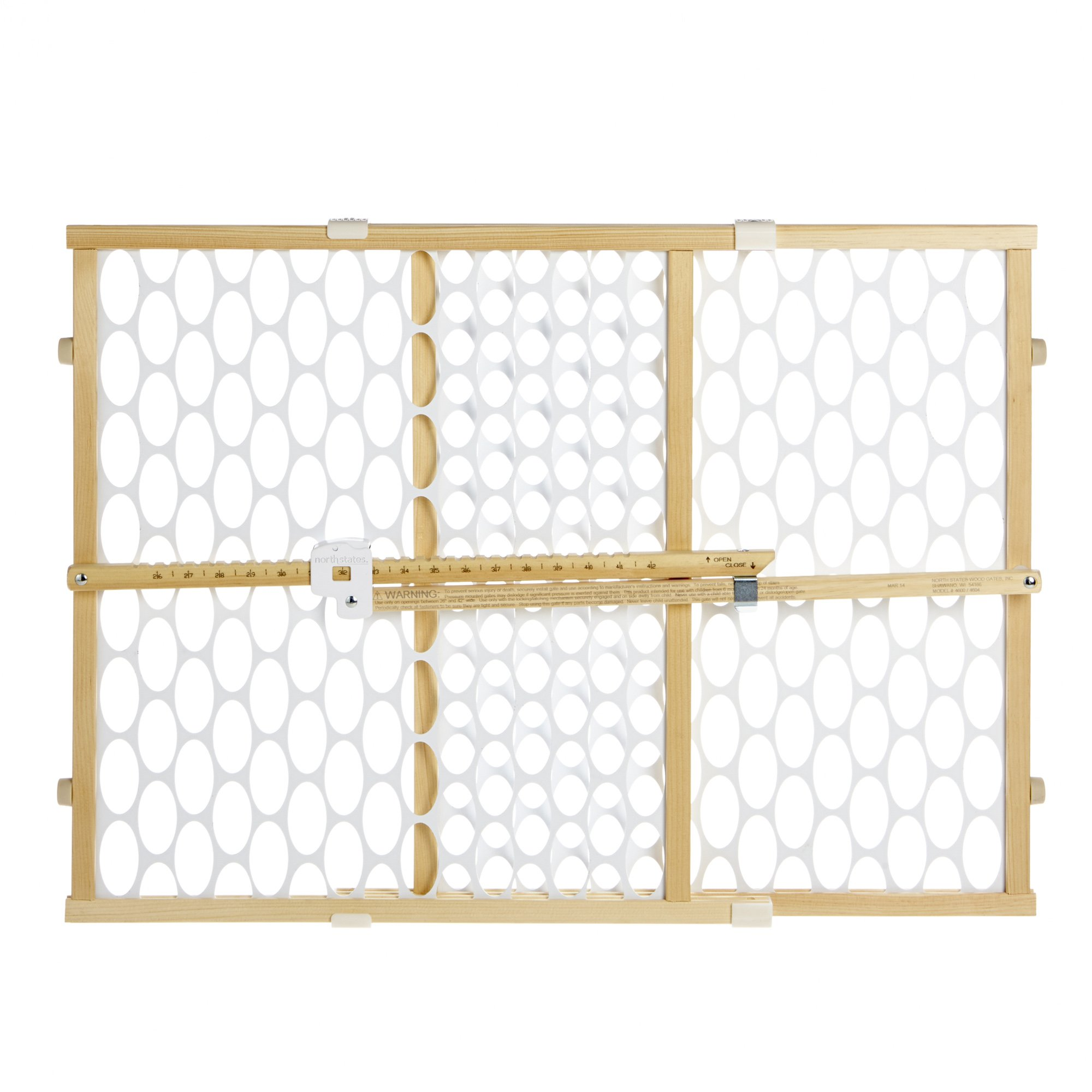 Supergate Quick Fit Oval Mesh Gate, 2 Pack, Fits Spaces between 26.5'' to 42'' Wide and 23''high by North States