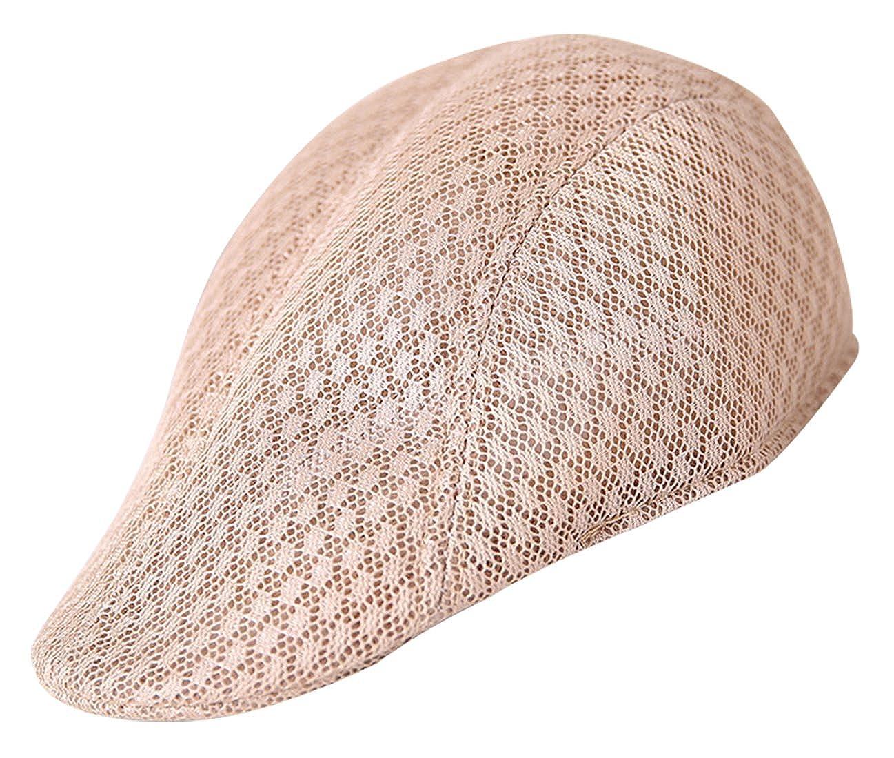 AIEOE Men Flat Cap Breathable Lightweight Summer Beret Walking Hiking Meah Hat