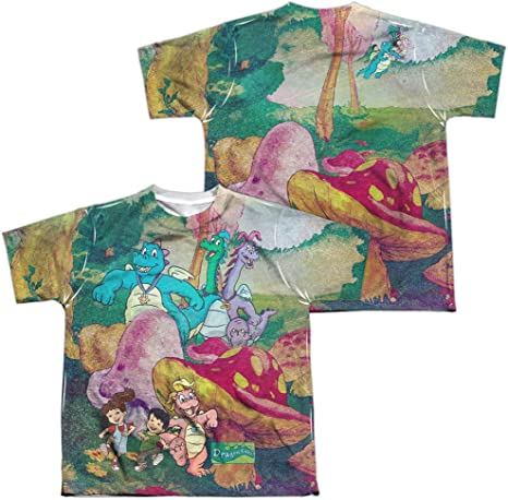 Dragon Tales MUSHROOM MEADOW 2-Sided Sublimated All Over Print Poly T-Shirt