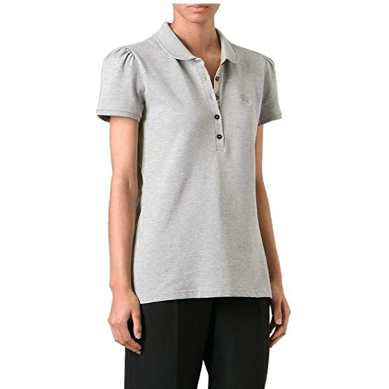 BURBERRY - Polo - para Mujer Grey Melange S: Amazon.es: Ropa y ...