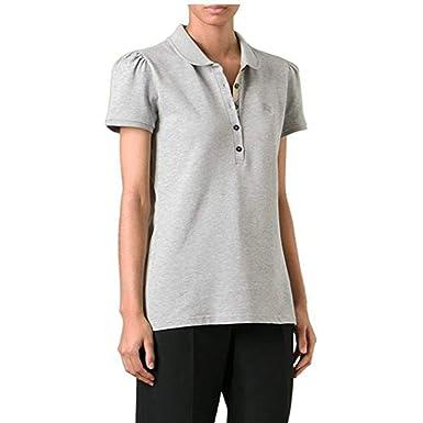 76799b7ef01c BURBERRY Polo - Femme Gris Grey Melange  Amazon.fr  Vêtements et ...