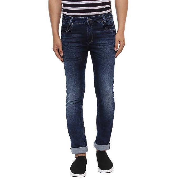acf83f5dd2d6 Mufti Blue Dark Super Slim Fashion Jeans  Amazon.in  Clothing   Accessories