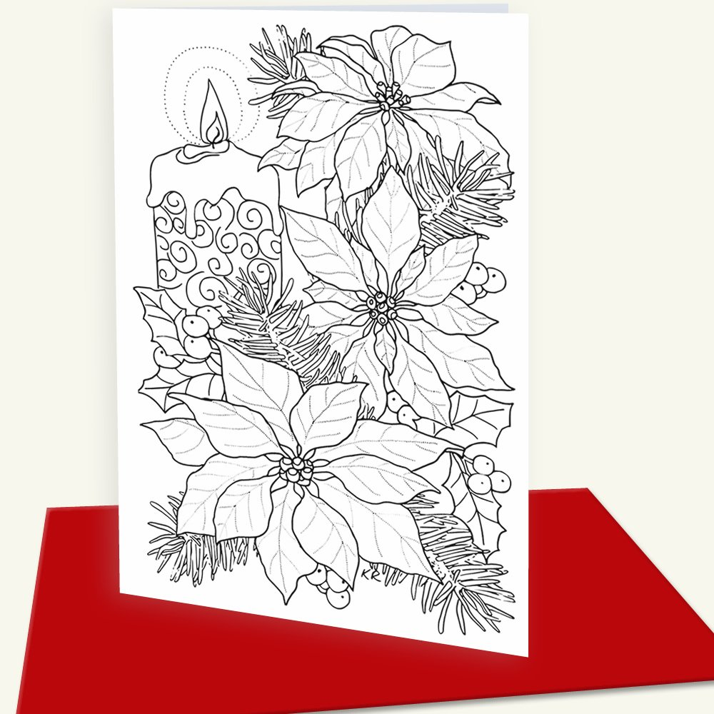 Amazon Christmas Cards For Coloring By Adults And Children 12