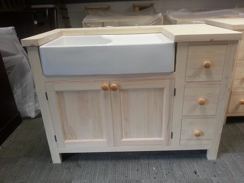 Amazon.de: Freistehend Küche Einheit (Medium) für eine Belfast Spüle ...