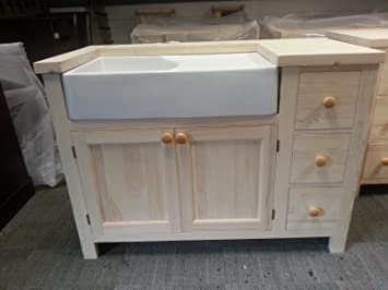 Freestanding Kitchen Unit (Medium) for a Belfast Sink in Solid Pine