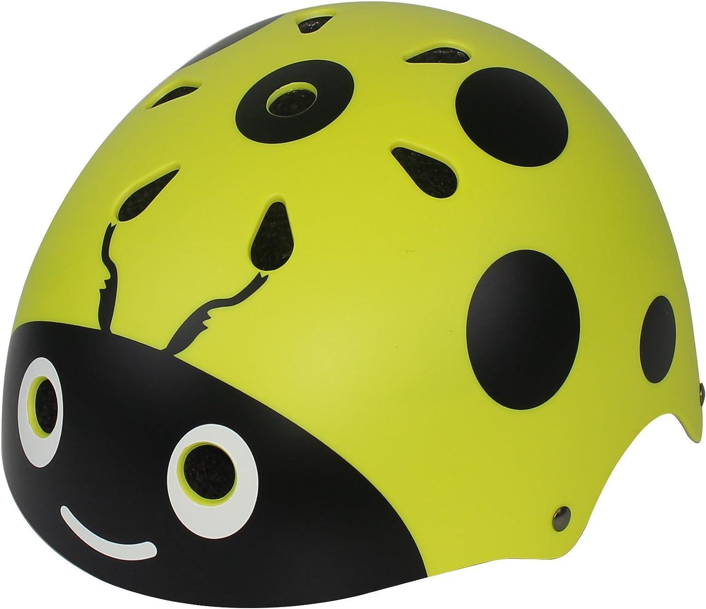 Lanova Boys Girls Ladybug Cycling Skateboard Bike Skating Scooter Helmet for 3 to 8 Years Old Child