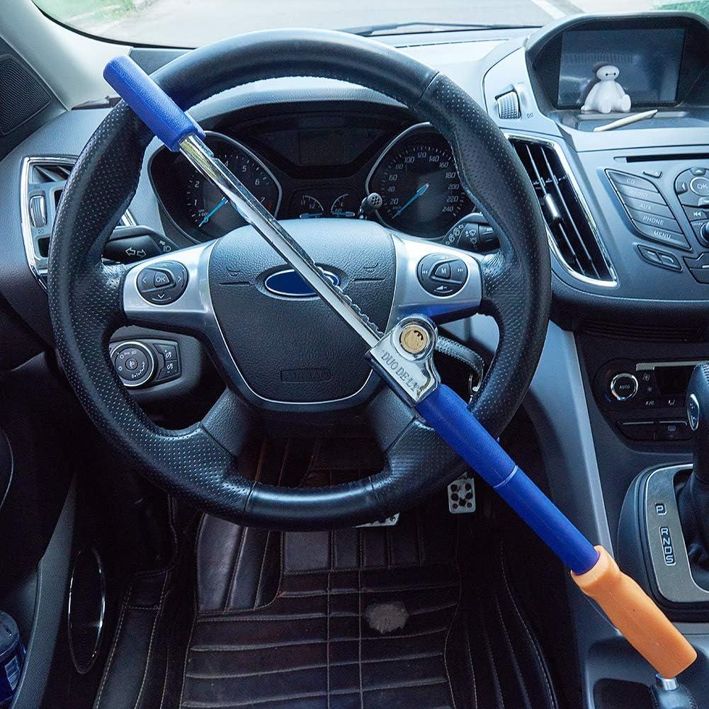 Blue and Yellow Blueshyhall Anti Theft Device Car Steering Wheel Lock Antitheft Lock Security Lock
