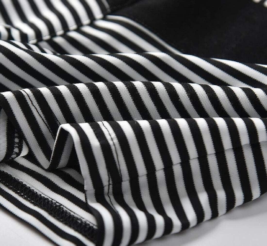 Etecredpow Boys Casual Summer Stripe Elastic-Waist Comfort Shorts