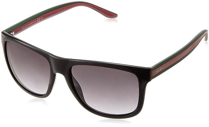 720b5b663c Gucci 1118S 51N Black Green Red 1118S Wayfarer Sunglasses Lens Category 3   Amazon.co.uk  Clothing