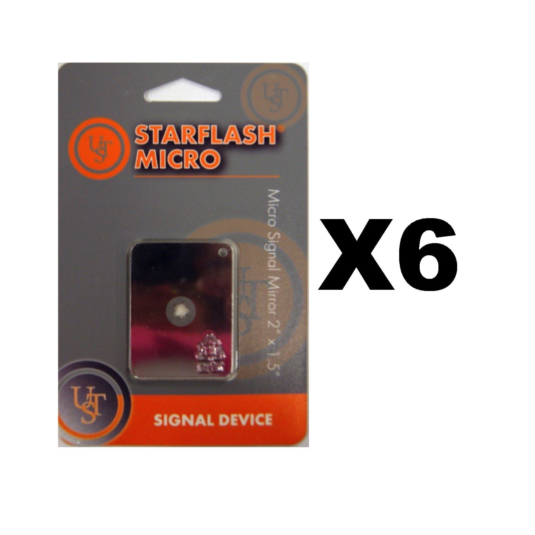 Ultimate Survival Technologies StarFlash Micro Signal Mirror 2''x1.5'' (6-Pack)