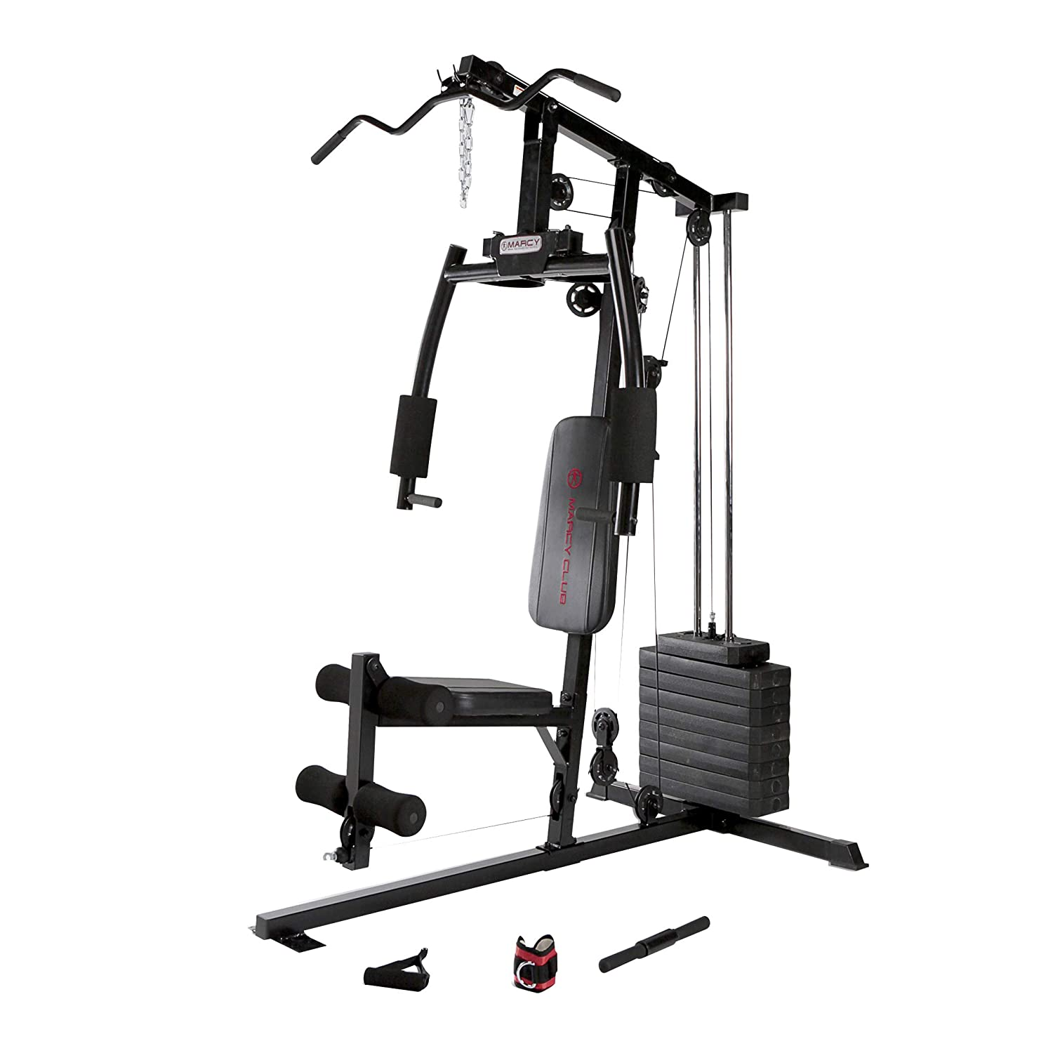 Amazon.com : marcy 120 lb. single stack home gym with pulley press