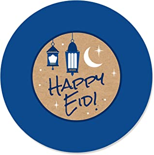 product image for Big Dot of Happiness Ramadan - Eid Mubarak Circle Sticker Labels - 24 Count