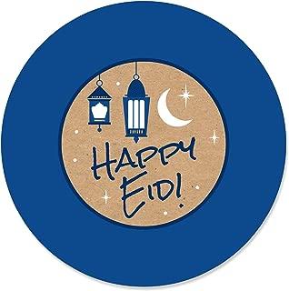 product image for Big Dot of Happiness Ramadan - Eid Mubarak Circle Sticker Labels - 24 Count