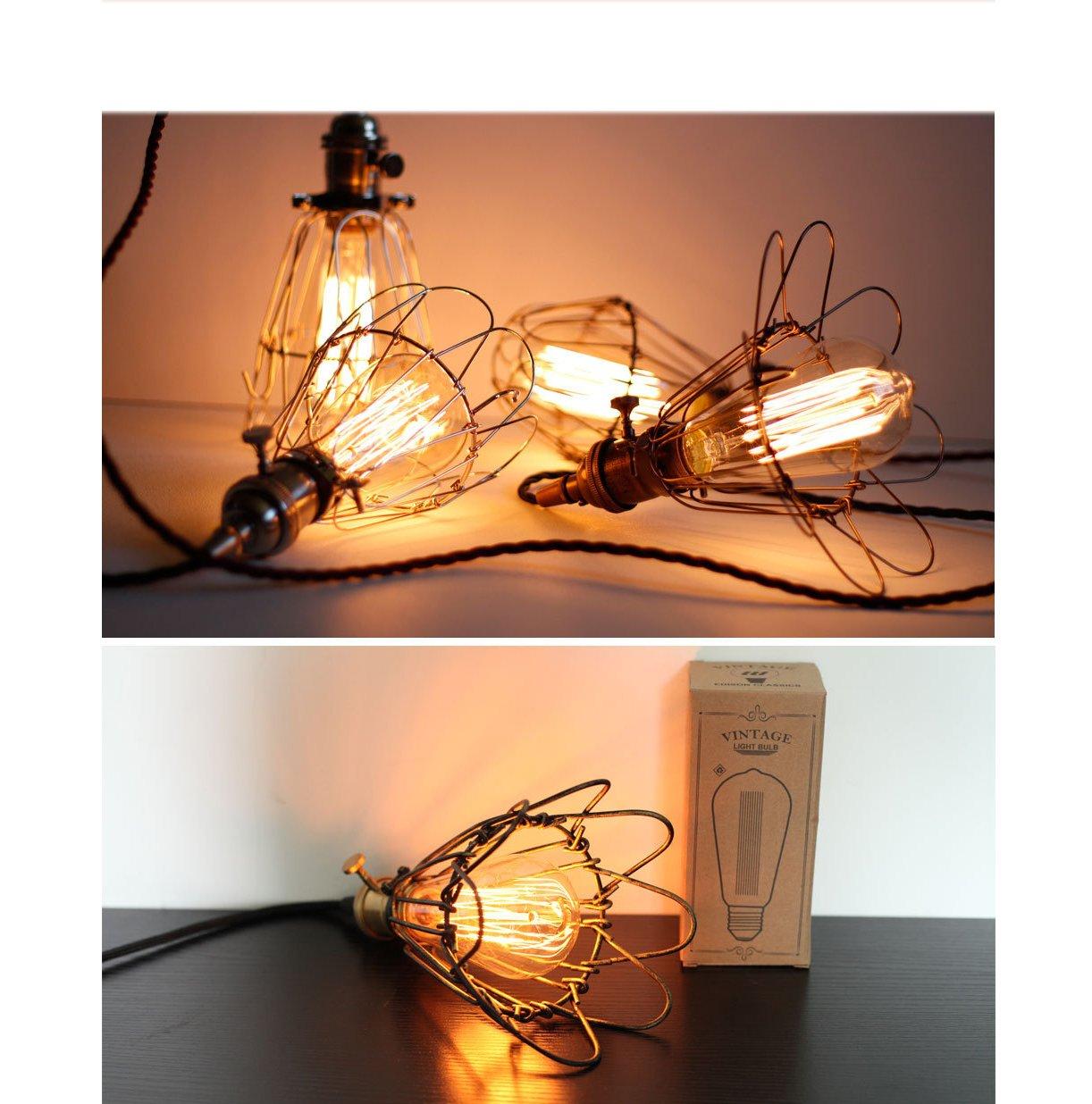 4 × E27 Bombilla De Filamento Bombilla De Luz Vintage Edison ...