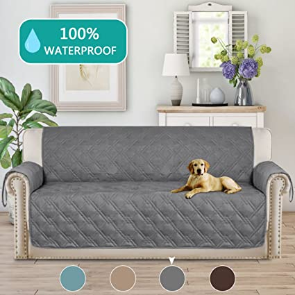 Turquoize Microfiber Sofa Cover 3 Seat Couch Protector Water Resistant  Quilted Furniture Covers With PVC Backing