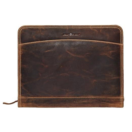 eac9400284732 Greenburry Vintage Manager 1721-25 Leder Dokumentenmappe 33x26x2