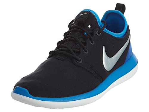 3deaa0716edc NIKE Men s Roshe 2 GS Running Trainers Blue Black Metallic Mesh Sneakers (5  Y US)  Buy Online at Low Prices in India - Amazon.in