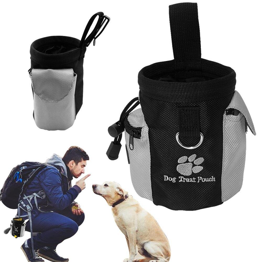 Smith Chu Dog Treat Pouch training Bag - Can Easily Carry Snacks Toys Treats with Drawstring