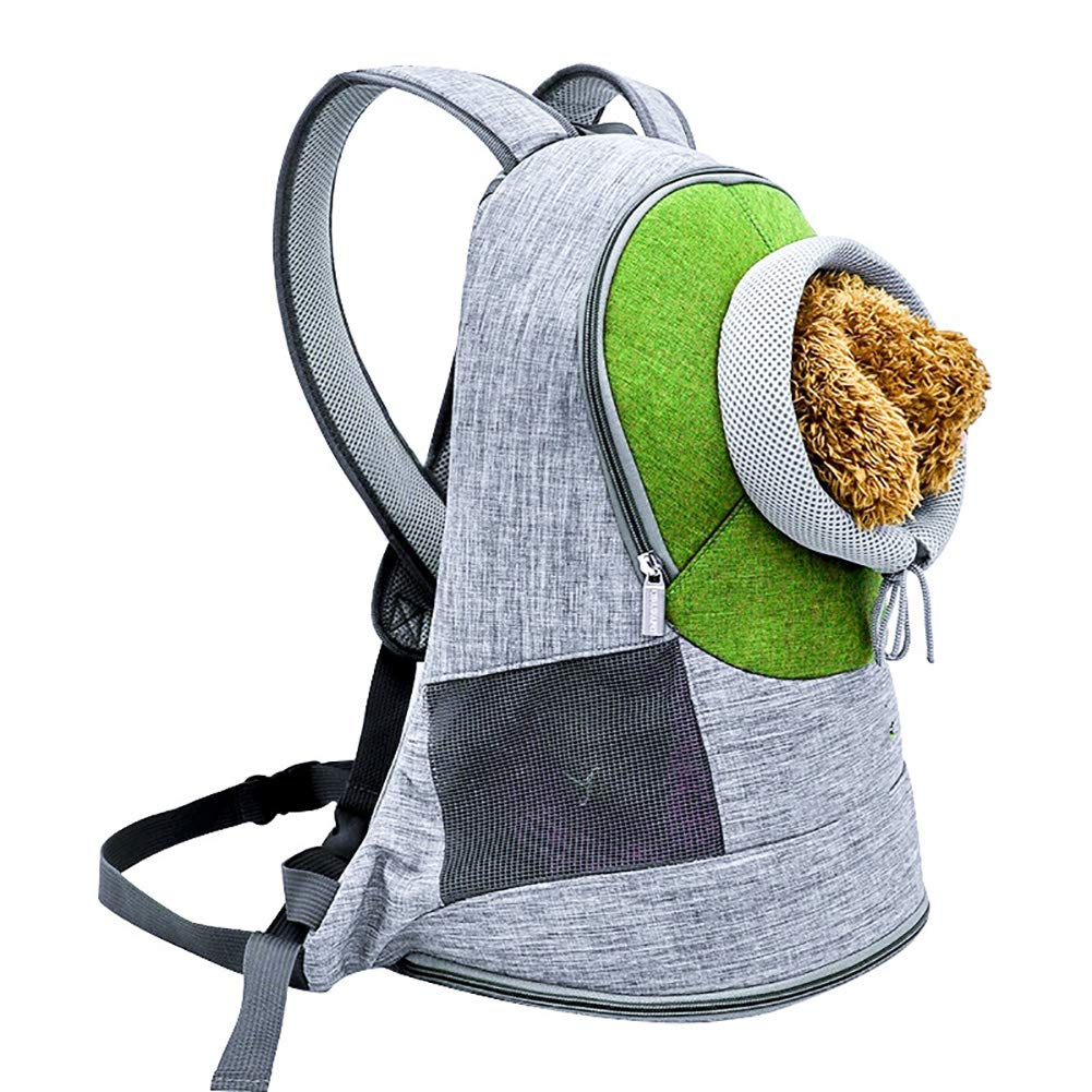 Green SLIYAN Pet Backpack Collapsible Easy To Clean Travel Bag For Dog And Cat Can Summer Breathable Out Carrying Cat Dog Bag