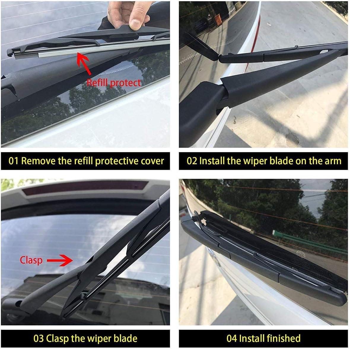 AUTVAN Rear Windsheild Back Wiper Arm and Blade Kit for Jeep Grand Cherokee 2011-2013 Toyota Land Cruiser Lexus LX570 2008-2015 GX470 2003-2009 OE 68040371A Arm Rear Wiper 68079868AA// 85241-42070