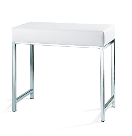 Peachy Amazon Com Dwba Backless Vanity Stool Bench With Chrome Bralicious Painted Fabric Chair Ideas Braliciousco