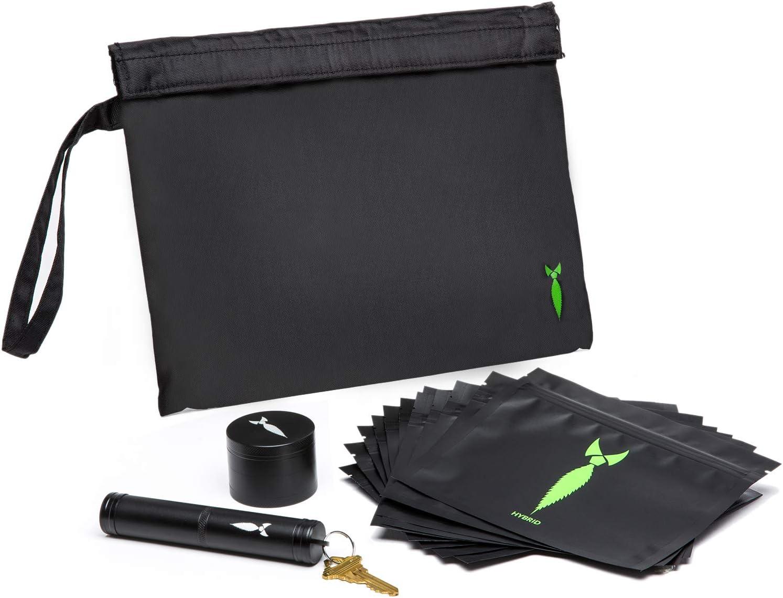 Bolsa grande a prueba de olores con contenedor hermético para bolsas a prueba de olores y hierbas