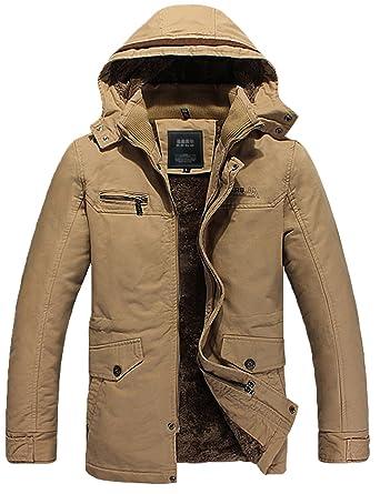 Innen Mantel Fell Jacke Herren Warm Winterjacke Männer Aq435LRj
