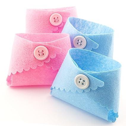 Amazon Summer Ray 24pcs Mini Felt Diaper Baby Shower Favor Bags
