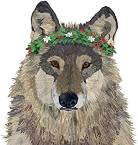 Paperproducts Design Decorative Beverage Paper Napkins – Tabletop Disposable Kitchen Cocktail Napkin – For Lunch, Dinner, Birthdays, Parties – Set of 20, Patti Gay/Two Can Art Glacier Wolf Design