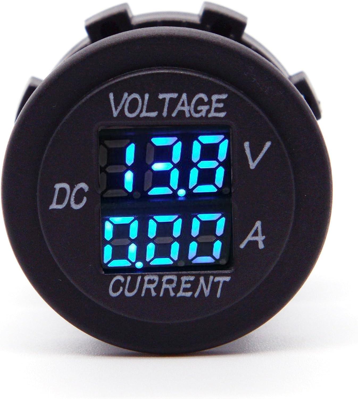 Car Motorcycle DC 12-24V Dual LED Digital Voltmeter Ammeter Amp Volt Meter Guage Car Chargers
