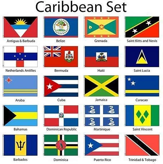 Islas del Caribe 2 X 3 de bandera unidades 20 País poliéster ...
