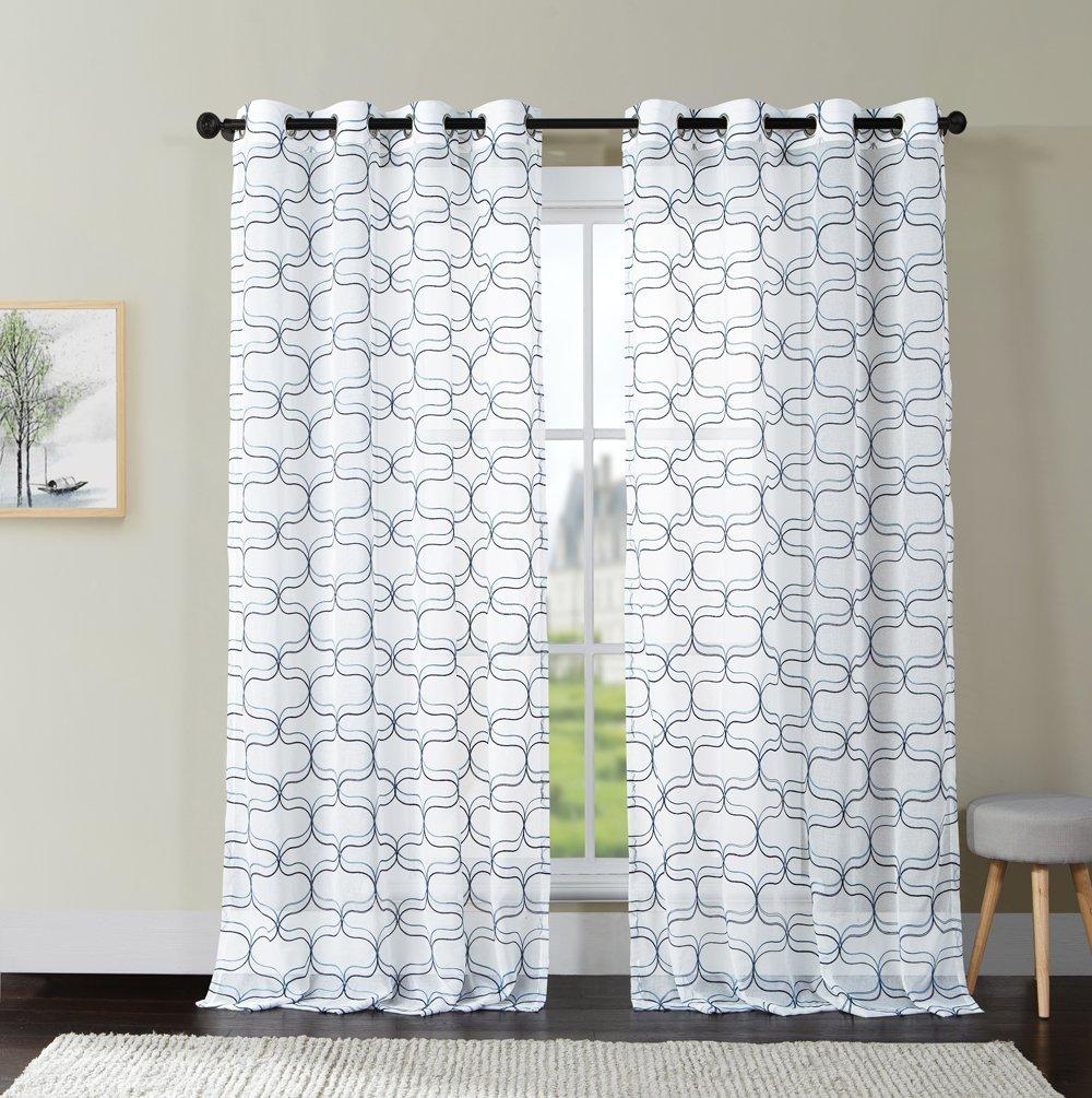 Luxury Home Khara Panel,52X108 52 x 108 Navy