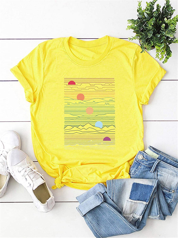 Womens Cute T Shirt Junior Tops Teen Girls Graphic Tees Festnight Fashion Women T-Shirts Printing