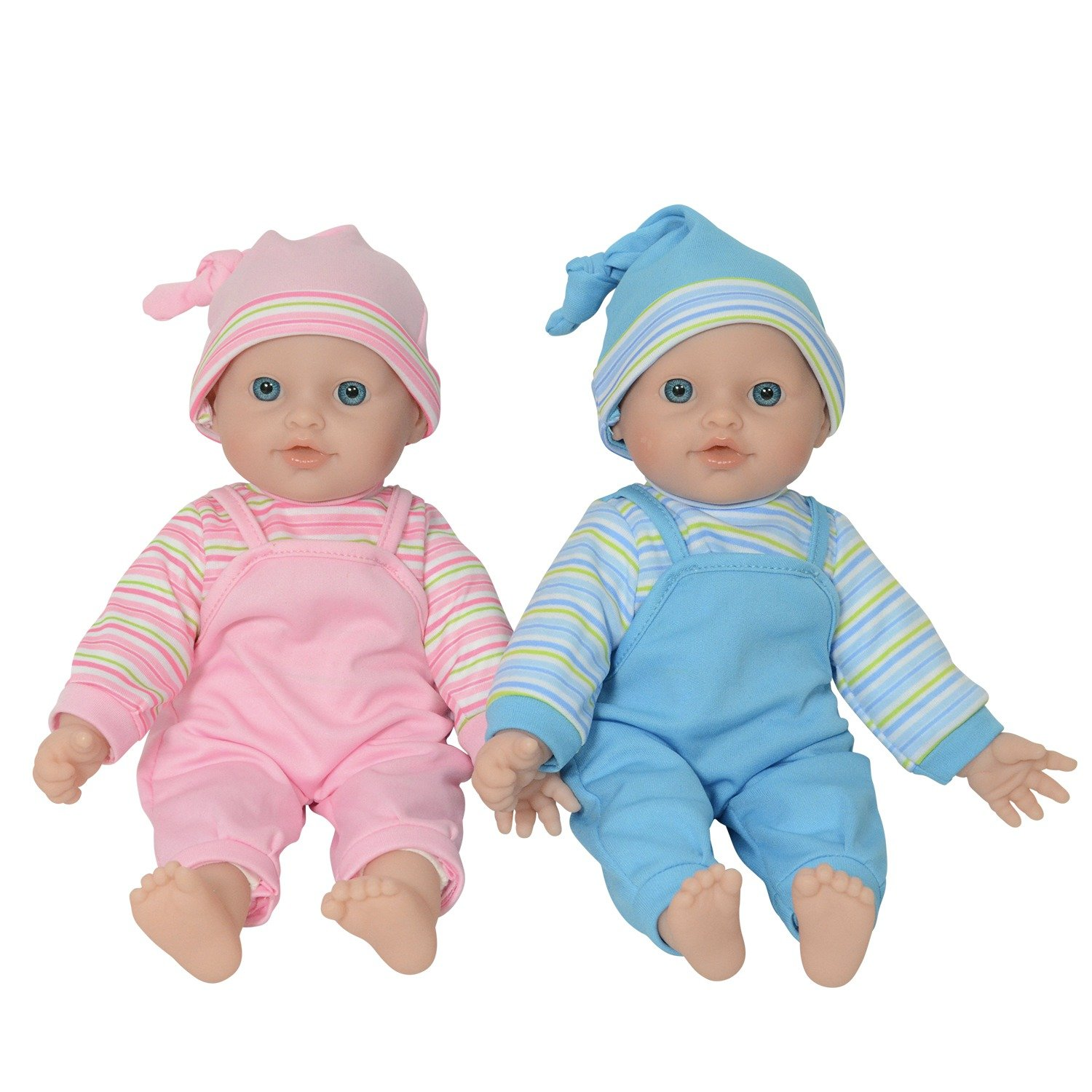 The New York Doll Collection 12 Twin Baby Doll Girls Made of Vinyl for Small Children B144 12 Caucasian