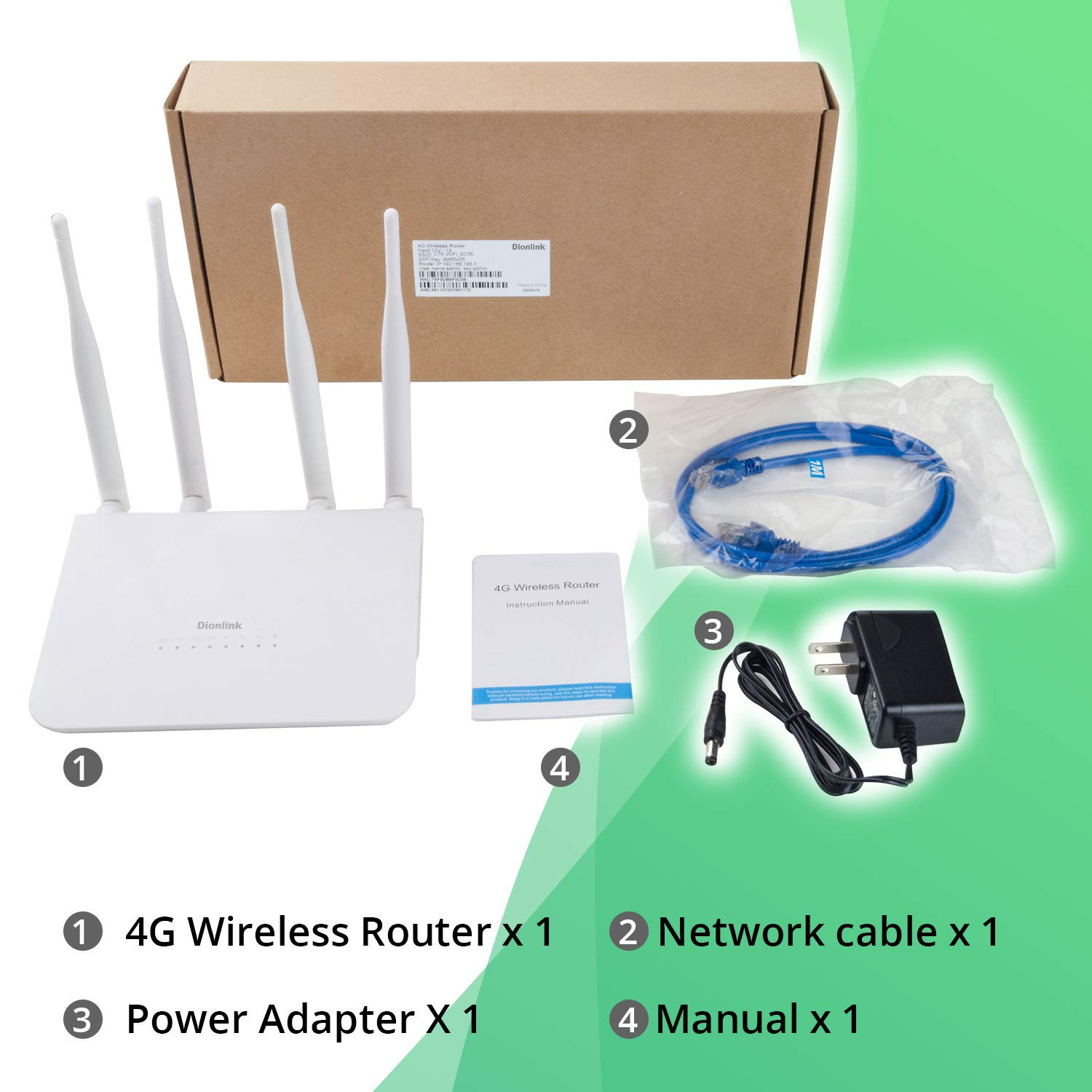 Amazon.com: Dionlink LT15 - Antena móvil WiFi Router 3G 4G ...