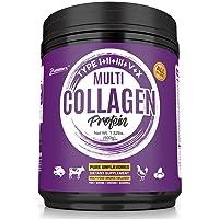 Multi Collagen Protein Powder 21oz Best Value - High-Quality Blend of Grass-Fed...