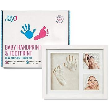 Baby Handprint & Footprint Kit by Kay&Max - Premium No Mold and Non Toxic Clay -