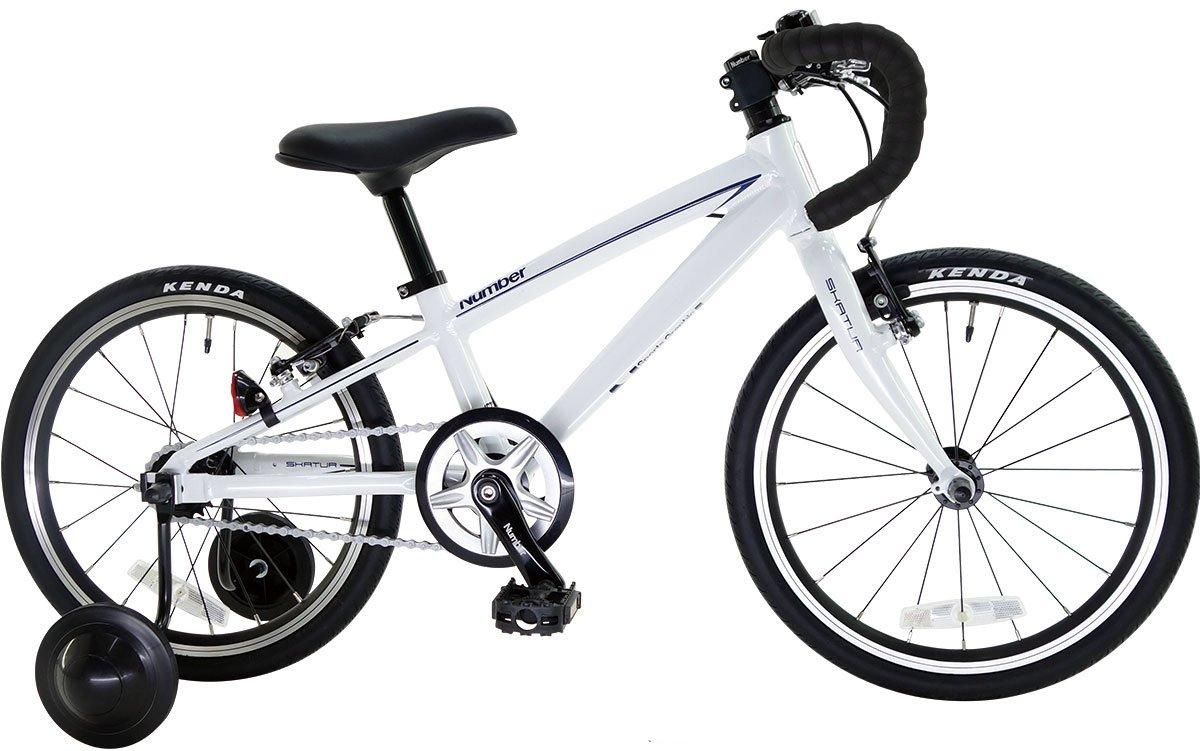 Number Bicycle(ナンバー バイシクル) SKATUR 18インチ アルミフレーム 幼児用自転車 B06XNRPVVJホワイト