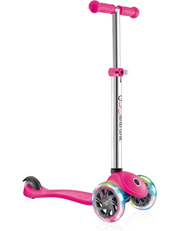 Globber Kids Primo Light Up Ruedas Scooter, neón Rosa