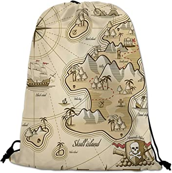 Assorted Colours Pirates Treasure Island Backpacks