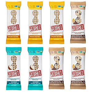 Perfect Bar Original Refrigerated Protein Bar, Peanut Butter Lover's Variety Bundle, 2.2 - 2.5 Ounce Bar, 8 Count