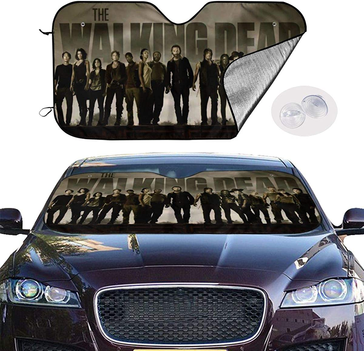 Foldable The Walking Dead Car Front Window Sunshade UV Protect to Keeps Your Vehicle Cool