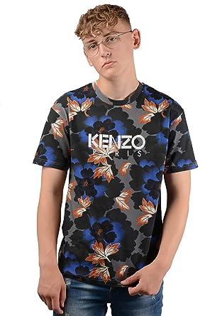 1267e7c44 Image Unavailable. Image not available for. Color: Kenzo Paris Mens 5TS043  4SJ Indonisian Flower T-Shirt ...