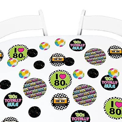 Big Dot of Happiness 80's Retro - Totally 1980s Party Giant Circle Confetti - Party Decorations - Large Confetti 27 Count: Toys & Games