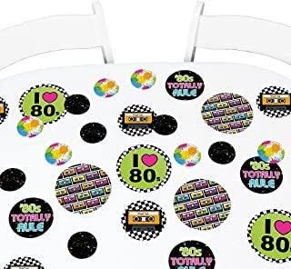 product image for Big Dot of Happiness 80's Retro - Totally 1980s Party Giant Circle Confetti - Party Decorations - Large Confetti 27 Count