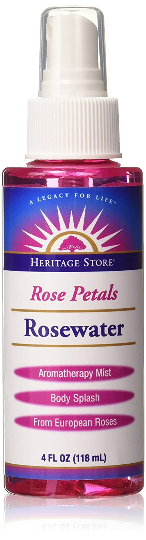 Heritage Store Rosewater WithAtomizer Spray Rose 4 oz 44609