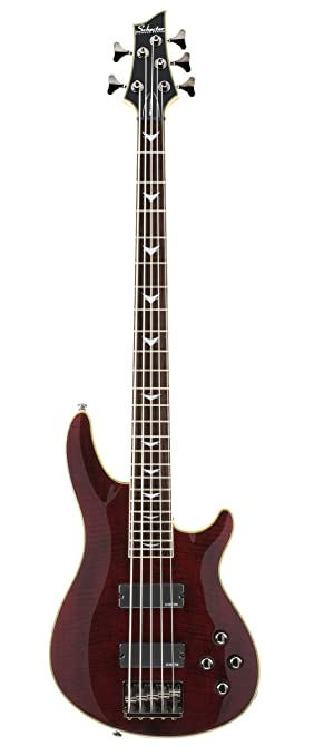 Schecter Omen Extreme 5 Bass Guitar Black Cherry