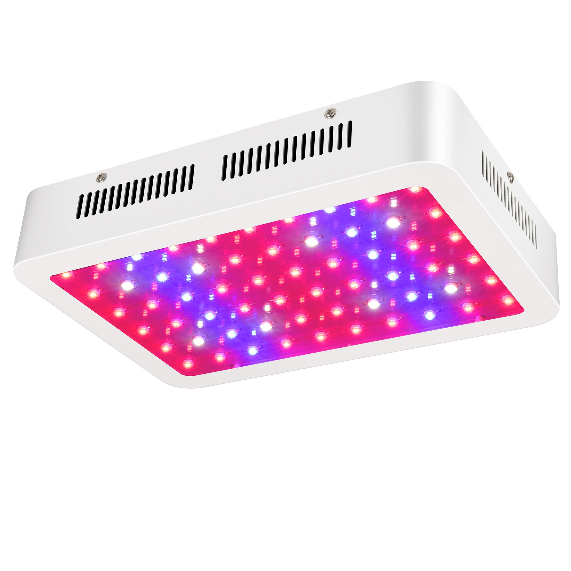 ZXMEAN 600W LED Plant Grow Light Dual Chips Full Spectrum with Adjustable Rope with UV and IR for Indoor Plants Veg and Flower, Input 85V to 265V